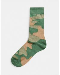 ASOS Ankle Sock With Camo Design - Green
