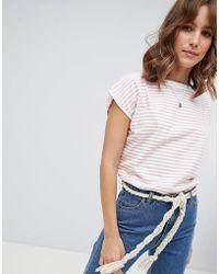 M.i.h Jeans M.i.h Jeans Plage Stripe T-shirt - Pink
