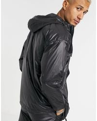 Criminal Damage Nylon Utility Windbreaker Jacket - Black