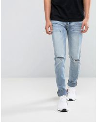 Sixth June - Super Skinny Jeans In Lightwash Blue - Lyst