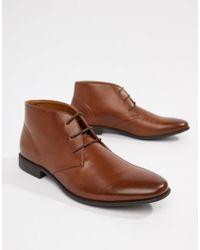 ASOS - Светло-коричневые Ботинки Чукка Из Искусственной Кожи - Lyst
