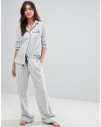 Abercrombie & Fitch - Stripe Pyjama Bottoms - Lyst