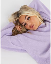 & Other Stories Mock Neck Sweater - Purple