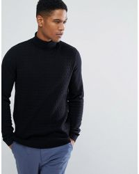 Threadbare - Cable Knit Roll Neck - Lyst