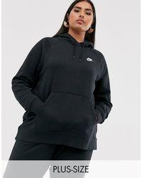 Nike Худи Черного Цвета Plus Essentials-черный
