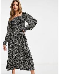 Missguided Vestido semilargo negro