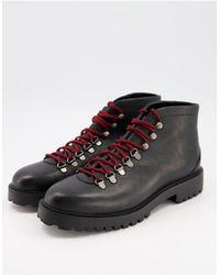 Walk London Кожаные Походные Ботинки Черного Цвета -черный Цвет