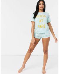 Adolescent Clothing Pijama corto Good at Naps de -Verde