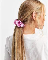 Pieces Розовая Большая Резинка Для Волос Из Атласа -розовый Цвет - Многоцветный