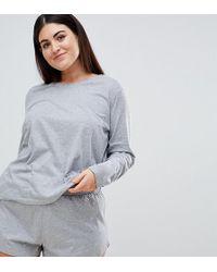 ASOS - Asos Design Curve Mix & Match Long Sleeve Pajama Tee - Lyst