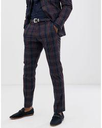 SELECTED Slim-fit Pantalon - Blauw