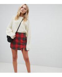 92d5c274c Minifalda con estampado de cuadros escoceses de - Rojo