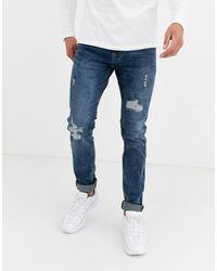 Celio* Skinny Jeans - Blue