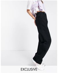 Collusion X014 90s baggy Extreme Dad Jeans - Black