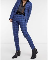 ASOS Super Skinny Soft Tailored Suit Trousers - Blue