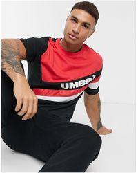 Umbro - Camiseta azul marino y roja con cuello redondo Sector - Lyst
