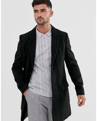 New Look Overcoat In Black