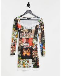 New Girl Order Square Neck Mini Dress - Multicolour