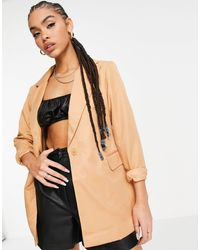 Threadbare Single Breasted Blazer - Brown