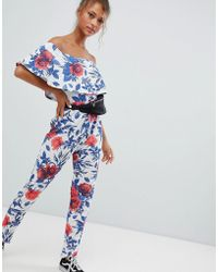Daisy Street - Jumpsuit With Bardot Frill - Lyst