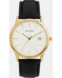 Sekonda - Watch With Leather Strap 3697 - Lyst