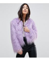 Miss Selfridge - Faux Fur Coat - Lyst