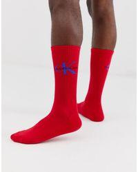 Calvin Klein Красные Носки С Логотипом - Красный
