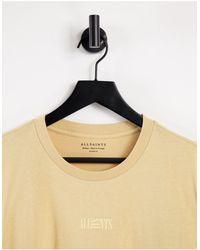 AllSaints Желтая Футболка С Логотипом Opposition-желтый