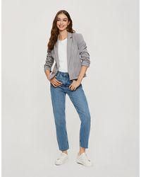 Miss Selfridge Patch Pocket Ponte Blazer - Grey