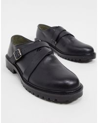 Bolongaro Trevor Buckle Strap Chunky Leather Derby Shoes - Black