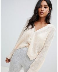 Micha Lounge - Oversized Cardigan With Side Splits - Lyst