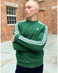 adidas Originals Зеленый Свитшот С 3 Полосками
