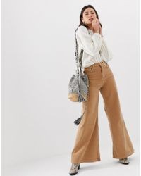 Free People - High Rise Wide Leg Jeans - Lyst