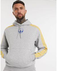 adidas Originals Худи Серого Цвета С Логотипом-трилистником -серый