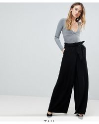 Y.A.S - High Waisted Wide Leg Trouser - Lyst