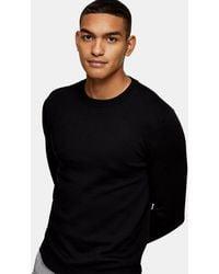 TOPMAN Essential Knitted Jumper - Black