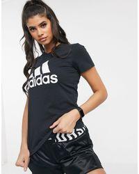 adidas Originals - Черная Футболка С Логотипом Adidas Training-черный - Lyst