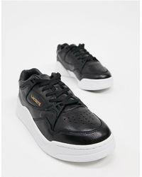Lacoste Черные Кроссовки На Плоской Высокой Подошве Court Slam-черный