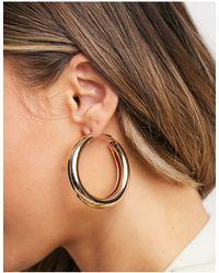 ASOS 40mm Hoop Earrings - Metallic
