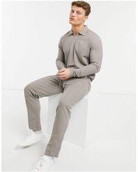 Jack & Jones - Premium - Jogger texturé d'ensemble - Beige - Lyst