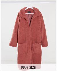 Brave Soul - Длинное Пальто Из Искусственного Меха -розовый - Lyst
