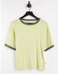 RVCA No Regard Oversized T Shirt - Yellow