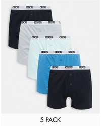 ASOS 5 Pack Boxers - Blue