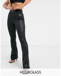 ASOS Hourglass 'lift And Contour' Flare Jeans - Black