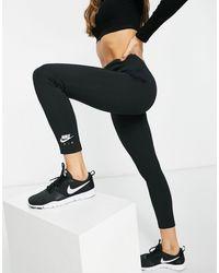 Nike Черный Лонгслив В Рубчик Air