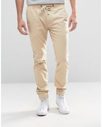 Hollister Pull-on Chino Drawcord Stretch Waistband In Beige - Natural