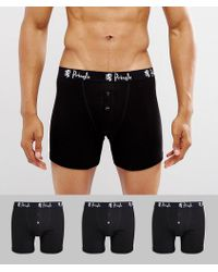 Pringle of Scotland - William Button Trunks In 3 Pack - Lyst