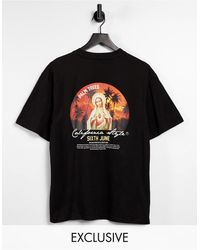 Sixth June Camiseta negra extragrande con estampado - Negro