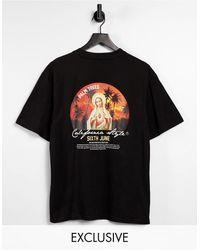 Sixth June T-shirt oversize avec imprimé coucher - Noir