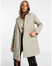 Pull&Bear Join life - Caban long - Beige - Multicolore